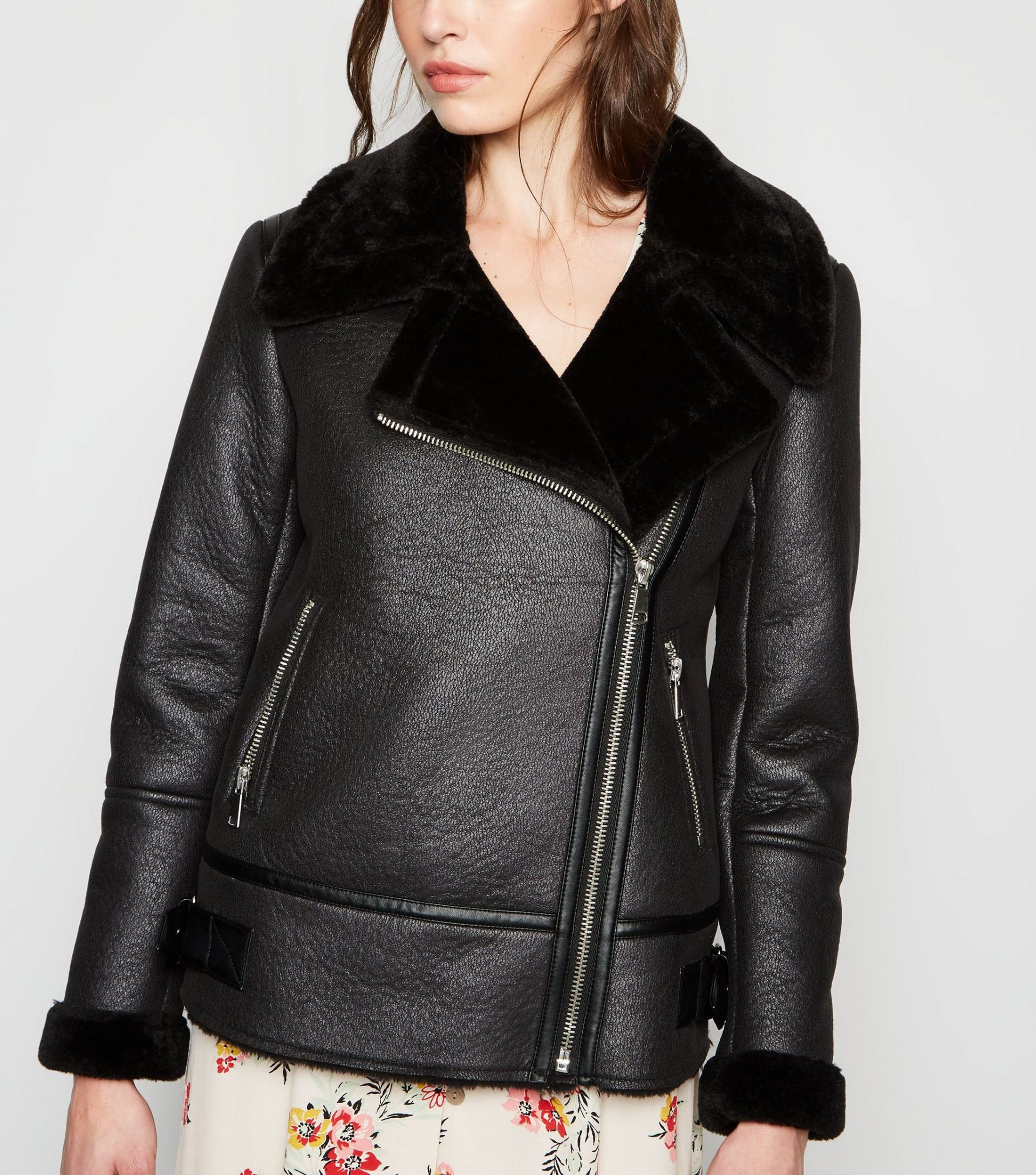 black-leather-look-aviator-jacket